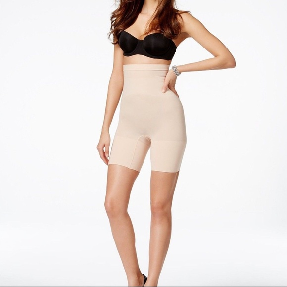 a5e9c715576c1 Spanx Higher Power Shaping Shorts Shapewear Size M